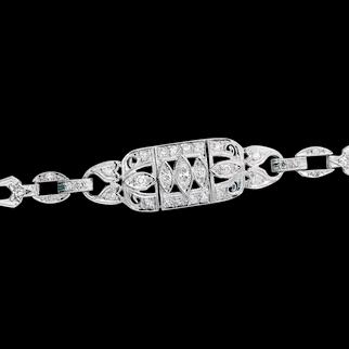 1920's Art Deco Diamond Bracelet in Platinum
