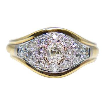 Edwardian 1.64ct Platinum Topped Diamond Engagement Ring