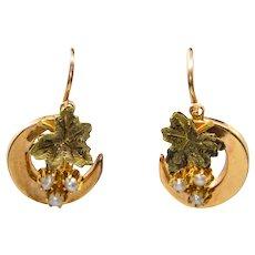 Victorian Grape Earrings in Multicolor 18K Gold