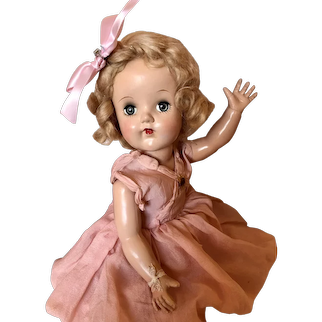 Vintage 1940's Pretty in Pink Unmarked Doll