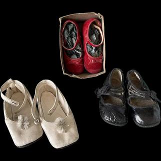 Lot of Vintage Antique Dolls Shoes