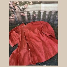 Antique Red Coat for Doll Antique