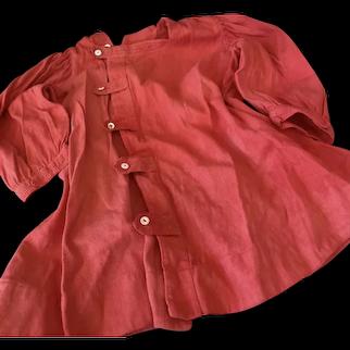 Antique Red Coat for Doll Antique