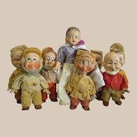 Knickerbocker Snow White and seven dwarfs