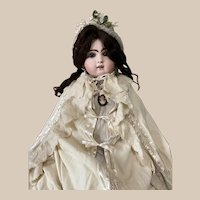 Elegant Wool Antique Cape for Large Antique Doll, Jumeau in Good Condition