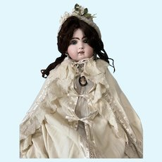 Extra Sale! Elegant Wool Antique Cape for Large Antique Doll, Jumeau in Good Condition
