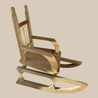 Vintage wooden rocking chair for dolls & Teddy bear
