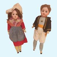 "!PROMOTION! Antique ""7 Recknagel all original pair dolls"