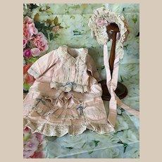 Lovely Dress Hat for French Bebe Jumeau Steiner Eden antique doll