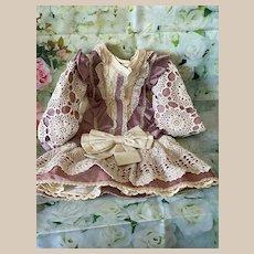 Romantic dress for big Ancient Doll, Jumeau, Bru, Steiner