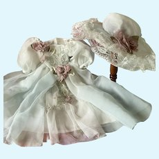 Lovely Dress Hat for French Bebe Jumeau Steiner Eden antique doll