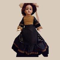 "Antique rare lady body French Petite Francaise J Verlingue 14"""" Liane doll"