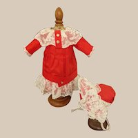 "!PROMOTION! Special silk and lace dress and hat for 12"" french doll"