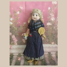 !PROMOTION!  All original  german antique little flower seller bisque doll