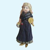 !PROMOTION!  All original  german antique little flower seller bisque doll