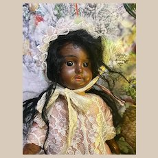 Mulatto SFBJ Bleuette size Black french doll