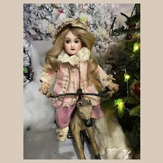 !PROMOTION! Charming Pintel & Godchaux PG 6 A Cabinet Size Antique French Doll