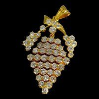 5ctw Chinese Antique Diamond Pendant, 20k Gold
