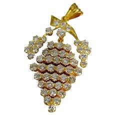 5ctw Chinese Antique Diamond Pendant, 20k Gold