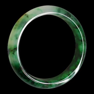 GIA Old Mine Lao Keng Green Jade Bangle Type A