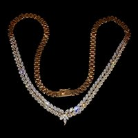 7 Carats Dainty Diamond V Necklace 18k
