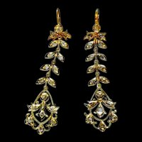 20k Petite Chandelier Earrings Vintage Chinese