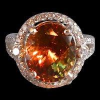 6ct Natural Alexandrite Halo Ring 18k