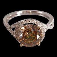 3ct Fancy Chocolate Diamond Ring 18k