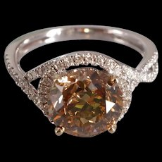 3ct Fancy Chocolate Diamond Ring 18k