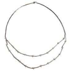4ctw Tiered Diamond Choker Necklace 18k