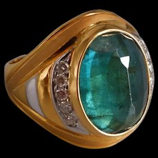 Vintage 10ct Emerald Ring 22k Men