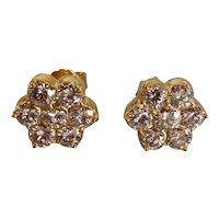 2.5ctw Antique Diamond Stud Earrings 20k Chinese