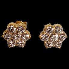 2.5ctw Antique Diamond Stud Earrings 20k Chinese