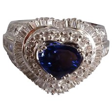 Intense Unheated Blue Sapphire Cocktail Ring 18k