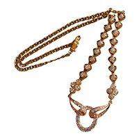 Bello Epoche Diamond Half Necklace Vintage Chinese 18k