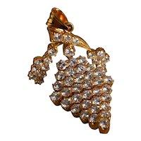 5ctw Antique Art Nouveau Diamond Pendant 20k Chinese