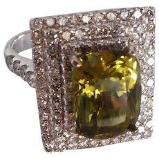 GIA 5ct Alexandrite Chrysoberyl Pillow Ring 18k
