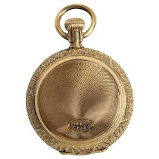 Vintage American Watch Co. 14K Yellow Gold Ladies Hunting Case Pocket Watch