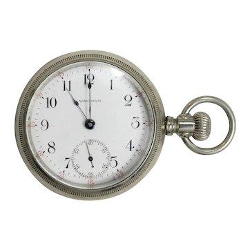 American Waltham Pocket Watch Nickel Silver, circa 1903