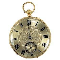 Vintage Raffin/Jules Geneve 18K Yellow Gold Pocket Watch
