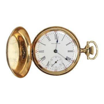 Vintage American Waltham Watch Co.14K Yellow Gold  ladies Hunter Case Pocket Watch