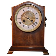 Antique 19/20th Century Rosewood Chimes Mantel Clock Pendulum Wind Up Mechanism French Made