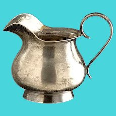 Sterling silver milk jug, height 6 cm, weight 71 g, hallmarked 84 (millesimal fineness of 875) MOSCOW, 1873 IAS [Cyrillic]