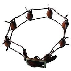 Vintage Spanish dog collar