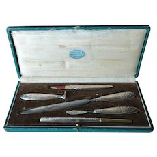 Art Nouveau complete writing set.