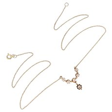 Vintage 18k Gold Diamond Pendant Necklace