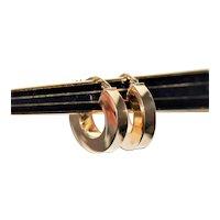 Vintage 14k Gold Hoop Pierced Earrings