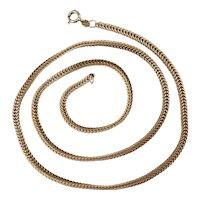Vintage 9ct Gold Herringbone Chain Necklace 10.5g Sheffield 1981 Hallmark