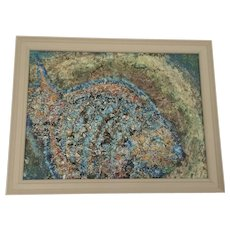 Vintage Abstract Fish Painting