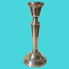 Vintage Sterling Silver Candlestick Marson and Jones Birmingham 1933